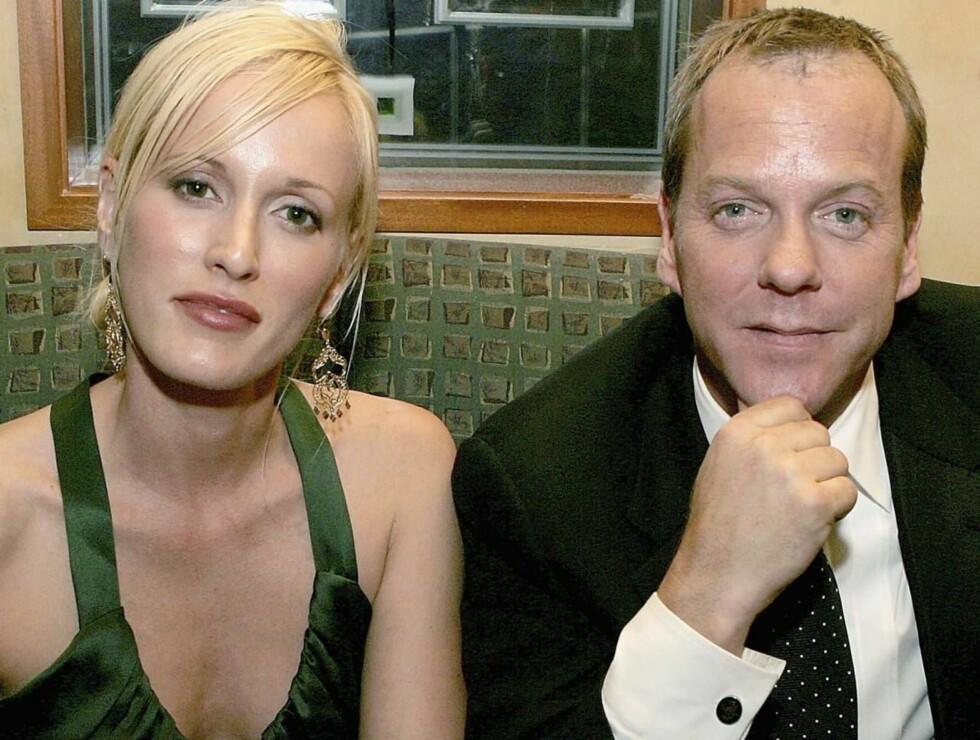 2005: Kiefer og Catherine var på Emmy-festen sammen i fjor. Her fra nachspielet på nattklubben Spago. Foto: All Over Press