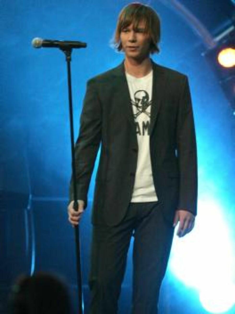 NUMMER TRE I IDOL: Jonas imponerte kraftig da han nesten gikk hele veien i idolfinalen 2006. Foto: Andreas Fadum, Se og Hør