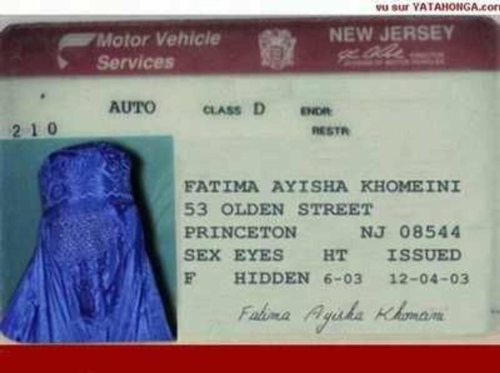 Har alle kvinner i muslimske land felles pass?