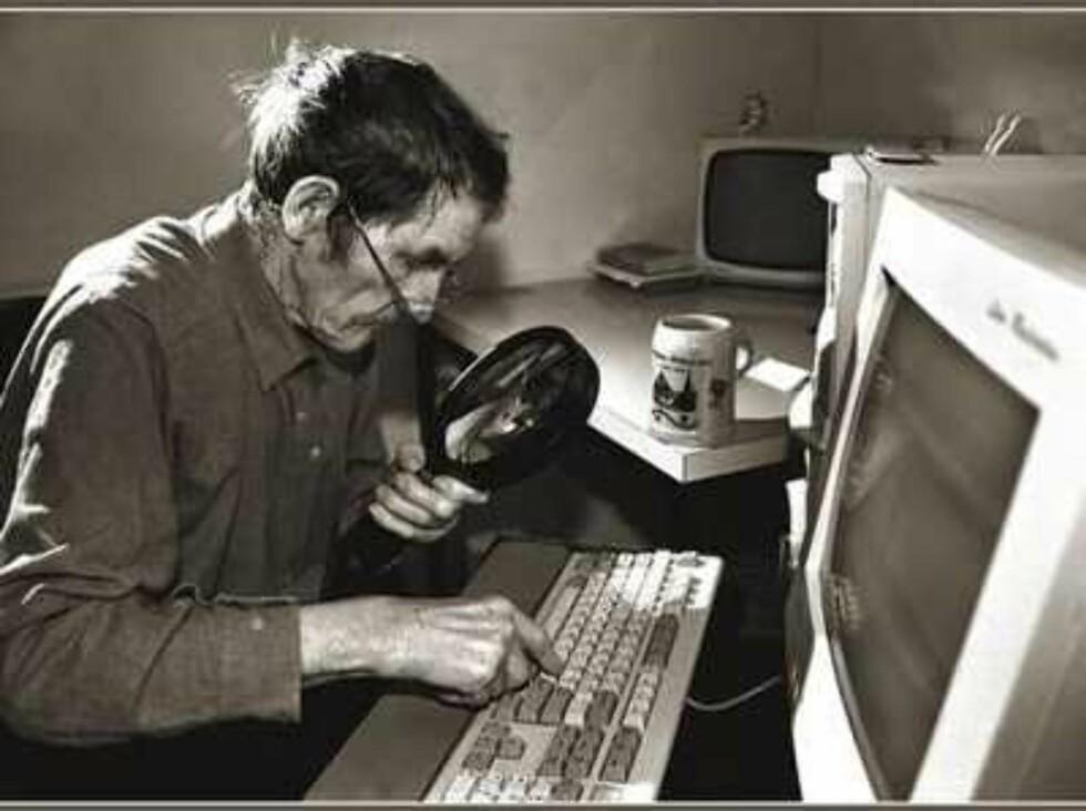 Det er godt de gamle er på nett med teknologien!