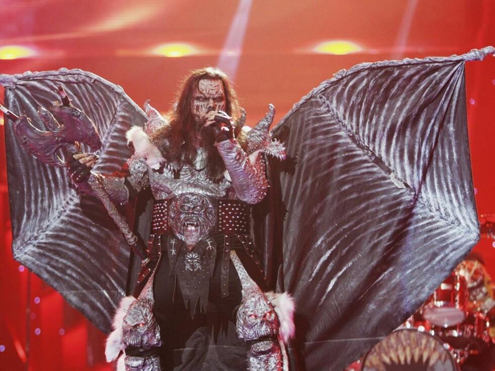 YNDLING: Finske Lordi sjarmerte seg inn i Europas hjerter. Foto: All Over Press