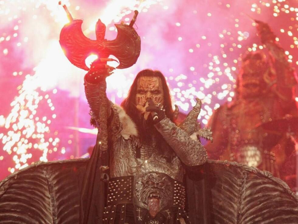 """IKKE AKKURAT """"LA DET SWINGE"""": Lordi hadde som mål å tilføre Grand Prix noe nytt. Det ser det ut som de har klart... Foto: All Over Press"""