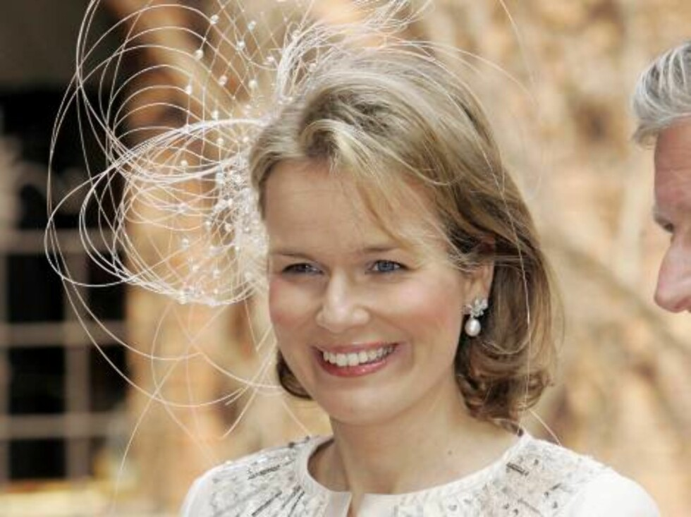 Crown Princess Mathilde of Belgium attends King Carl Gustaf of SwedenÕs 60th Birthday Celebrations. Parliaments Lunch at City Hall in Stockholm. 30/4/06 Picture: UK Press (ref 7890-MC/JP) Foto: All Over Press