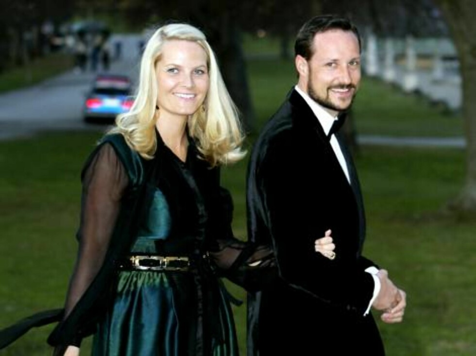King Carl Gustaf of Sweden's 60th Birthday Celebrations. Crown Prince Haakon & Crown Princess Mette-Marit of Norway attend a Gala Dinner at Drottningholm Palace. Picture; UK Press Foto: All Over Press