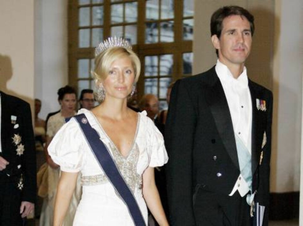 Crown Prince Pavlos & Crown Princess Marie-Chantal of Greece attend King Carl Gustaf of Sweden's 60th Birthday Celebrations. Gala Dinner at the Royal Palace, Stockholm. Picture; UK Press Foto: All Over Press