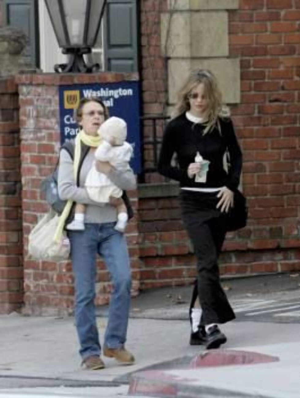 Skinny 44 yr old Meg Ryan taking care of her just  adopted baby from China leaving Zen Zoo Tea cafe in Santa Monica. January 26, 2006 X17agency EXCLUSIVE / ALL OVER PRESS Foto: All Over Press