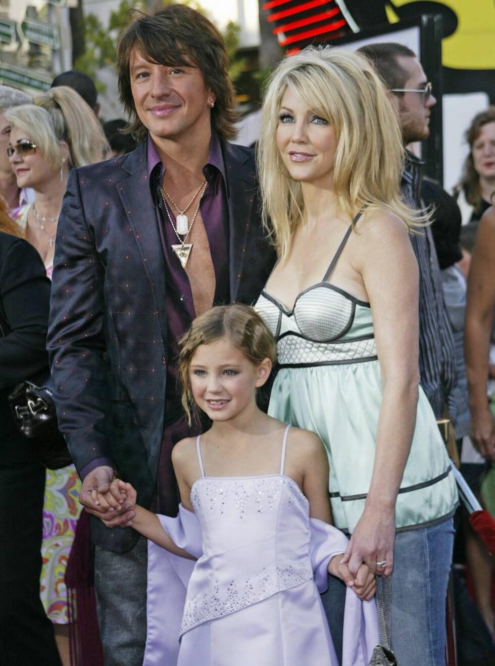 SLUTT: Richie Sambora og Heather Locklear med datteren Ava Elizabeth da alt var fryd og gammen. Foto: All Over Press