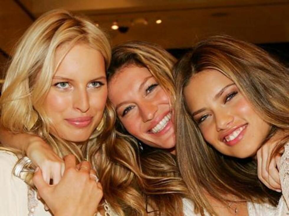SAY CHEESE: Var det bare Karolina som hadde glemt å pusse tennene? Foto: All Over Press