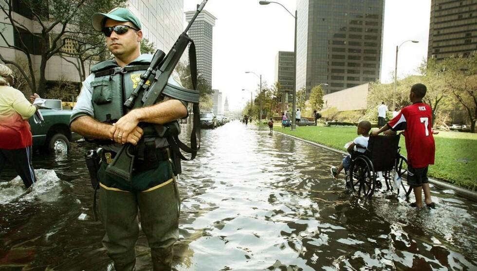 FRYKTELIG FLOM: New Orleans ble nesten ødelagt av flom etter orkanen Katrina. Foto: All Over Press