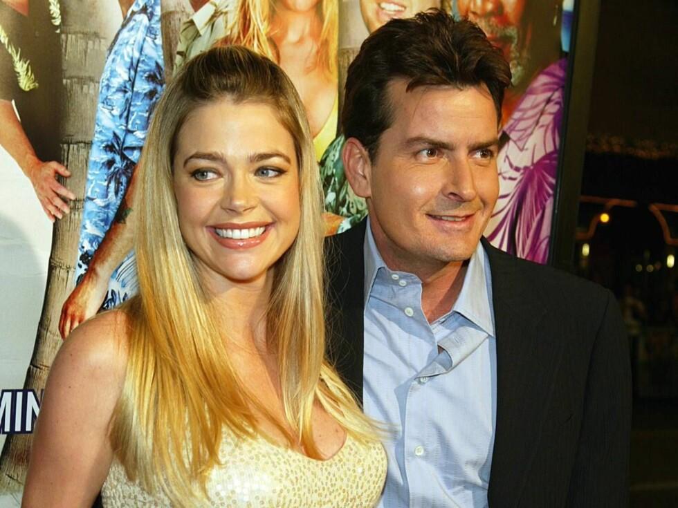 GIR OPP: Denise og Charlie var et av Hollywoods heteste par. Foto: All Over Press