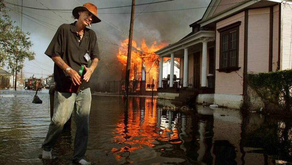 I RUINER: Orkanen Katrina la New Orleans i ruiner i fjor høst.  Foto: All Over Press