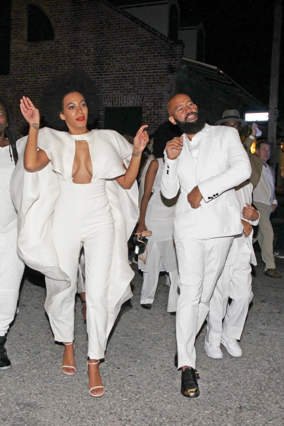 UTRADISJONELLE: Solange Knowles og Alan Ferguson hadde et utypisk bryllup.  Foto: Stella Pictures