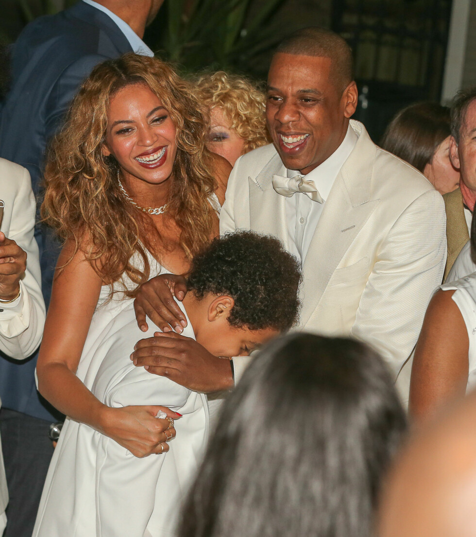GLEDE: Beyoncé og Jay Z koste seg i bryllupet. Foto: Stella Pictures