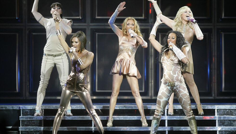 UMÅTELIG POPULÆRE: Her er jentene samlet på scenen i Vancouver under deres reunion-tour i 2007. Foto: NTB Scanpix