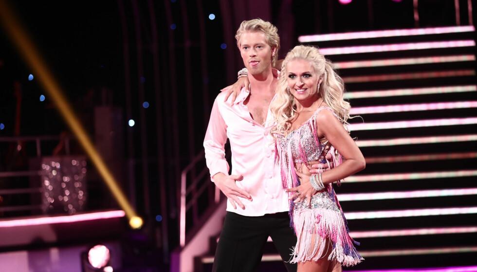 HARDTRENING: Nadya sier til «God Kveld Norge» at hun synes Eilev kler å ha blitt litt «barskere» etter all treningen i danseprogrammet «Skal vi danse». Foto: Thomas Reisæter / TV 2