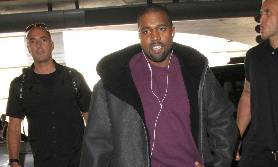 SKAL HA OPPFØRT SEG «UNDERLIG»: Nettsiden TMZ hevder politiet kontaktet ambulansepersonell etter at de møtte Kanye West mandag. Her er artisten fotografert ved en tidligere anledning.