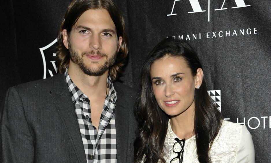 <strong>SKILTE SEG:</strong> Ekteskapet mellom Ashton Kutcher og Demi Moore holdt i seks år.