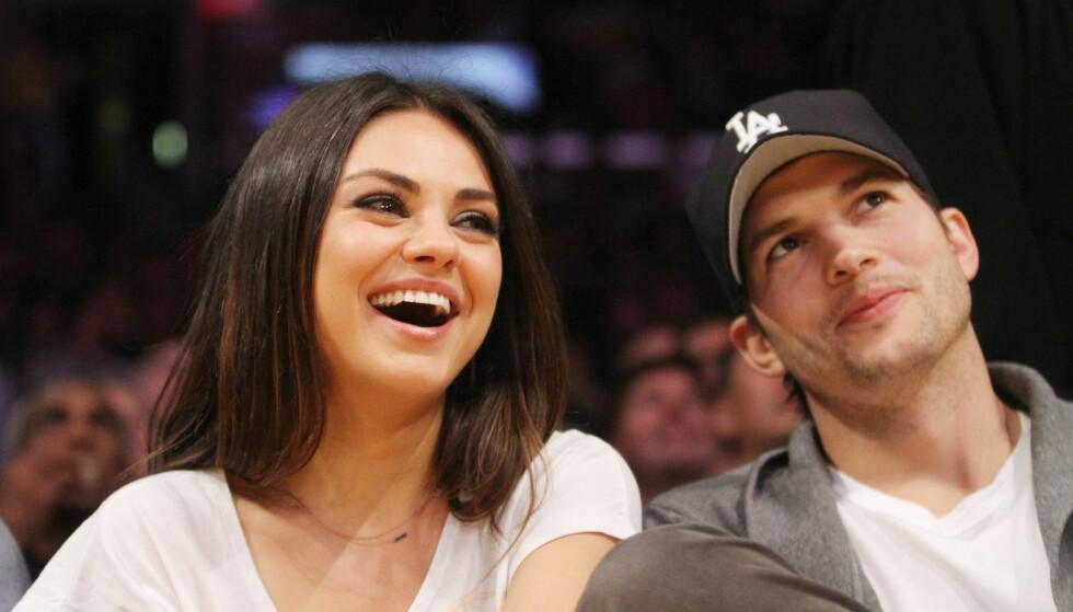 <strong>FANT LYKKEN IGJEN:</strong> De fire siste årene har Ashton vært sammen med skuespilleren Mila Kunis. Foto: Scanpix.