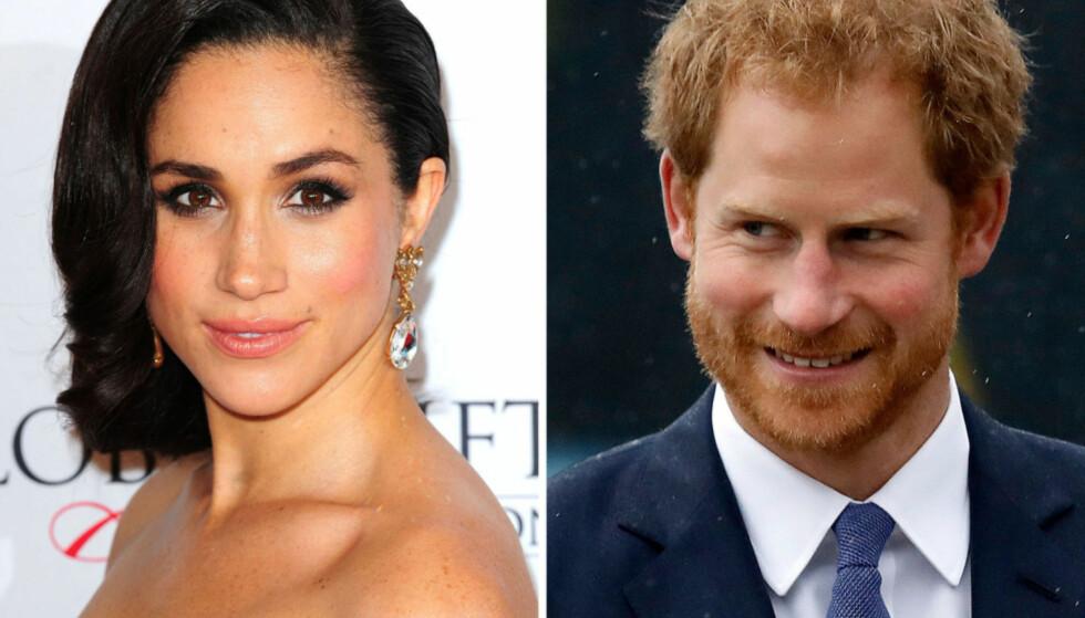 FORELSKET: Tidligere i november bekreftet prins Harry at han har blitt sammen med den amerikanske skuespilleren Meghan Markle. Foto: NTB scanpix