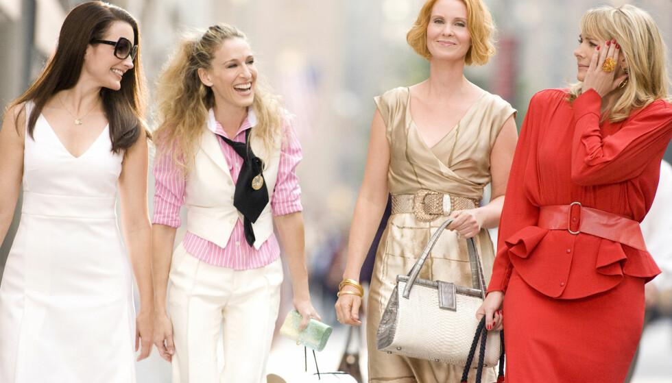TV-SUKSESS: Kristin Davis, Sarah Jessica Parker, Cynthia Nixon og Kim Cattrall har sørget for mange uforglemmelige øyeblikk i serien Sex og singelliv som gikk på TV fra 1998 til 2004. Foto: Scanpix.