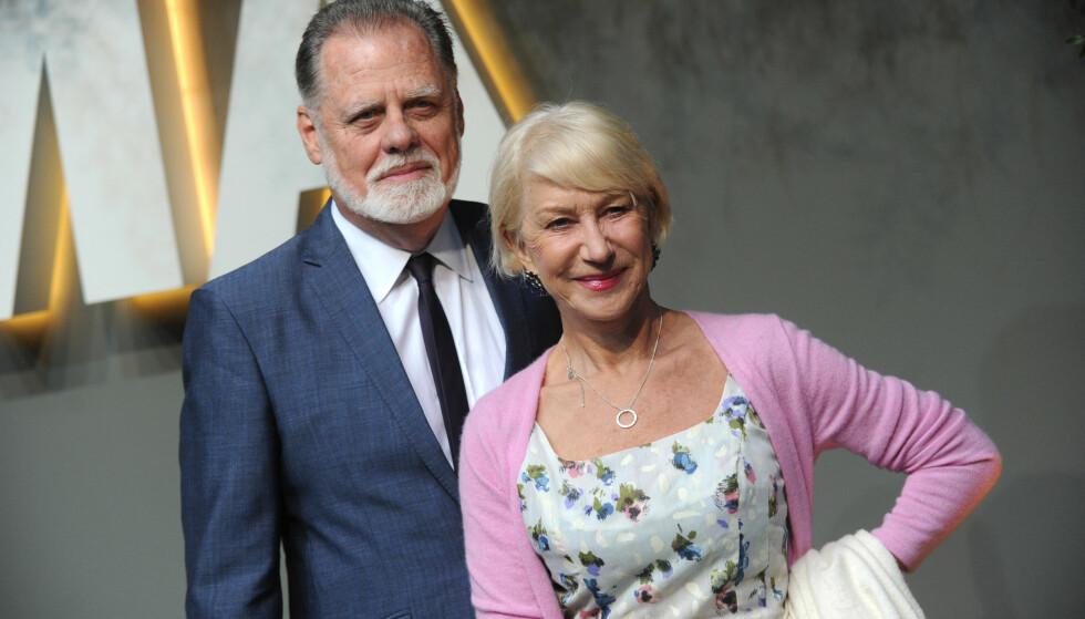 LYKKELIG GIFT: Helen og Taylor har vært gift i 19 år.