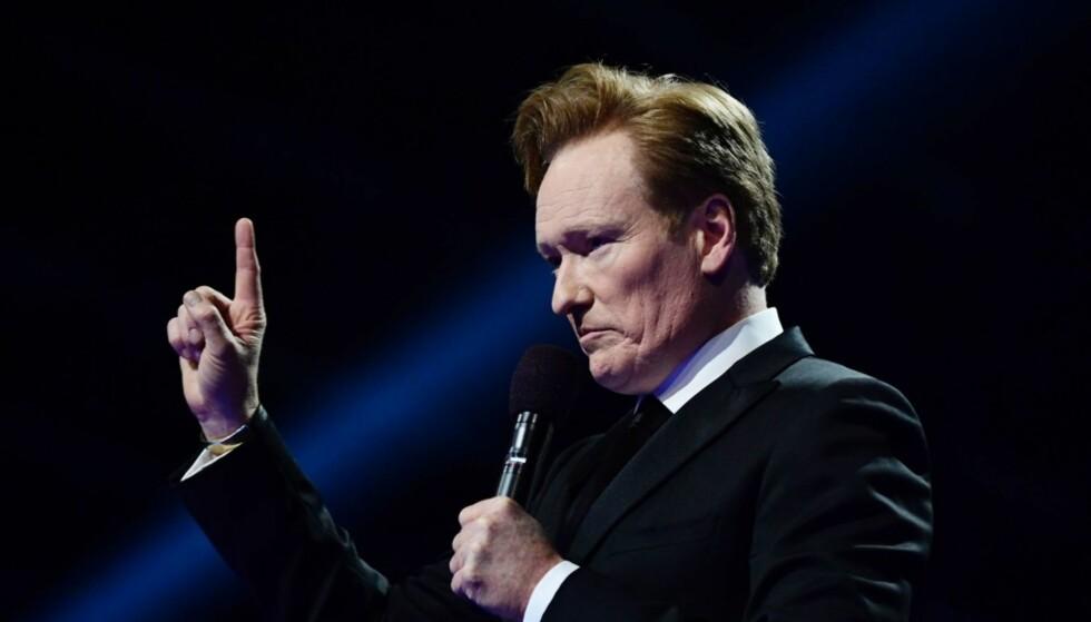 LEDER SHOWET: I år er det amerikanske Conan O'Brien som leder Nobelkonserten på Telenor Arena. Foto: NTB scanpix