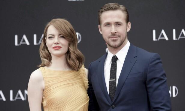 <strong>OSCAR-NOMINERTE:</strong> Ryan Gosling og Emma Stone er begge nominerte til Oscar for sine roller i filmen «La la land». Foto: NTB Scanpix
