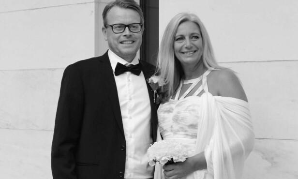 EKTEMANNEN: Ingvill giftet seg med ektemannen Rune bare tre dager før innspillingen av «Sommerhytta» startet. Foto: Privat