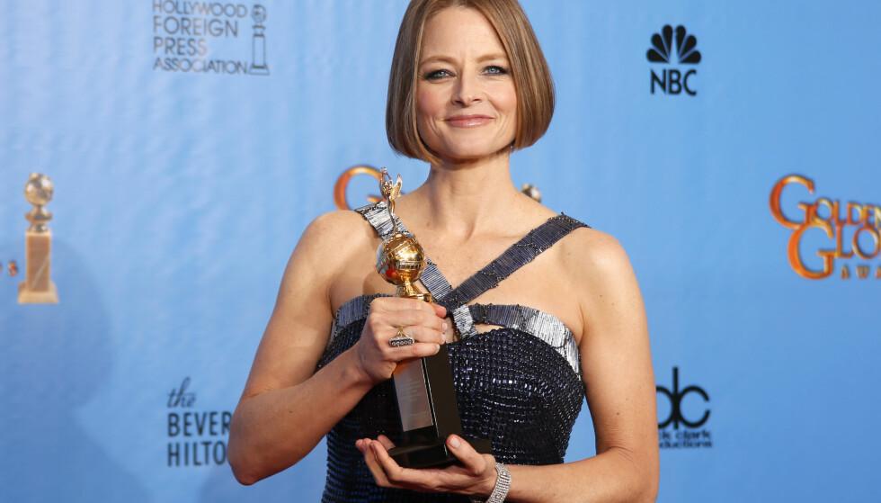 <strong>PERSONLIG TALE:</strong> Jodie Foster kom ut av skapet i sin takketale under Golden Globes i 2013.