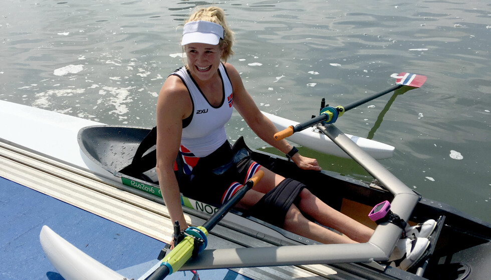 SATSER HARDT: Birgit Skarstein satser hardt som roer. Her er hun i aksjon under Paralympics i Brasil i 2016. Foto: NTB Scanpix