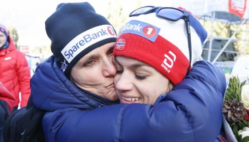 GOD STØTTE: I tillegg til kjæresten, får Heidi mye god støtte fra mamma May Bente. Foto: NTB Scanpix.