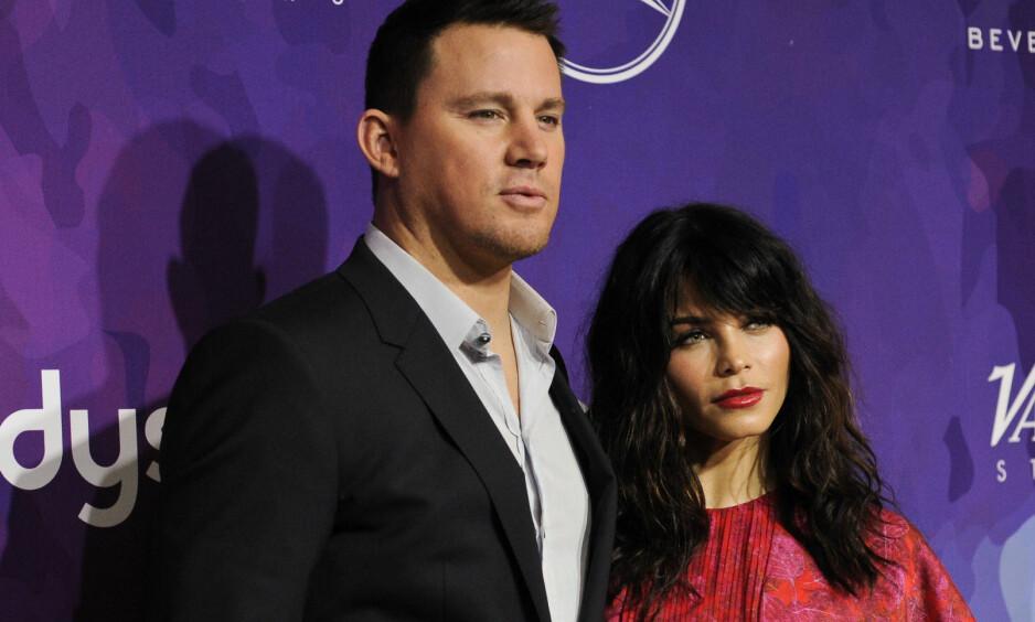 HOLDER SAMMEN: Channing Tatum og kona Jenna Dewan-Tatum er sammen på det ellevte året, og er fortsatt like forelsket. Foto: Scanpix