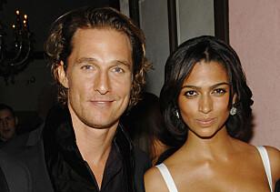 HETT PAR: Matthew McConaughey klarte å kapre drømmedama si i 2006-den brasiliansk-amerikanske modellen Camila Alves. FOTO: AP Photo/Evan Agostini/NTB Scanpix