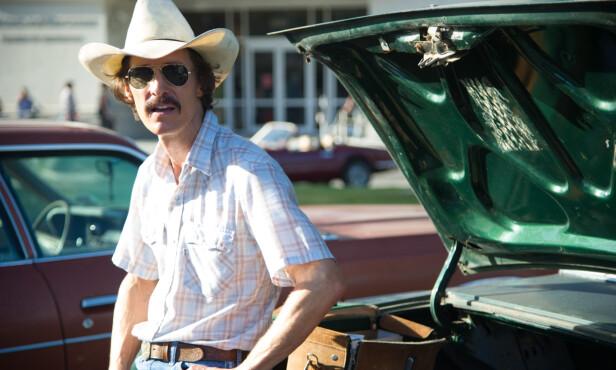 EKSTREMSLANKING: På settet til filmen «The Dallas Buyers Club» veide Matthew McConaughey bare 62 kilo. FOTO: Filmweb