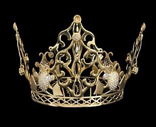 NESTEN KONGELIG: Victoria hadde på seg denne svindyre diamant og gulltiaraen under eventyrbryllupet i 1999. Foto: NTB Scanpix.