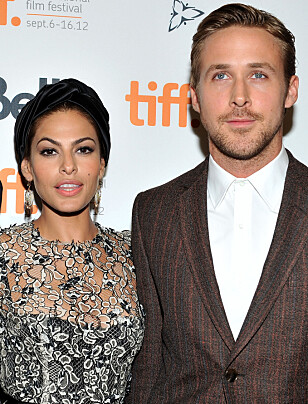 <strong>TOBARNSFORELDRE:</strong> I fem år har Ryan Gosling og Eva Mendes vært et par og har barna Amanda (7) og Esmeralda (2) sammen . Foto: NTB Scanpix