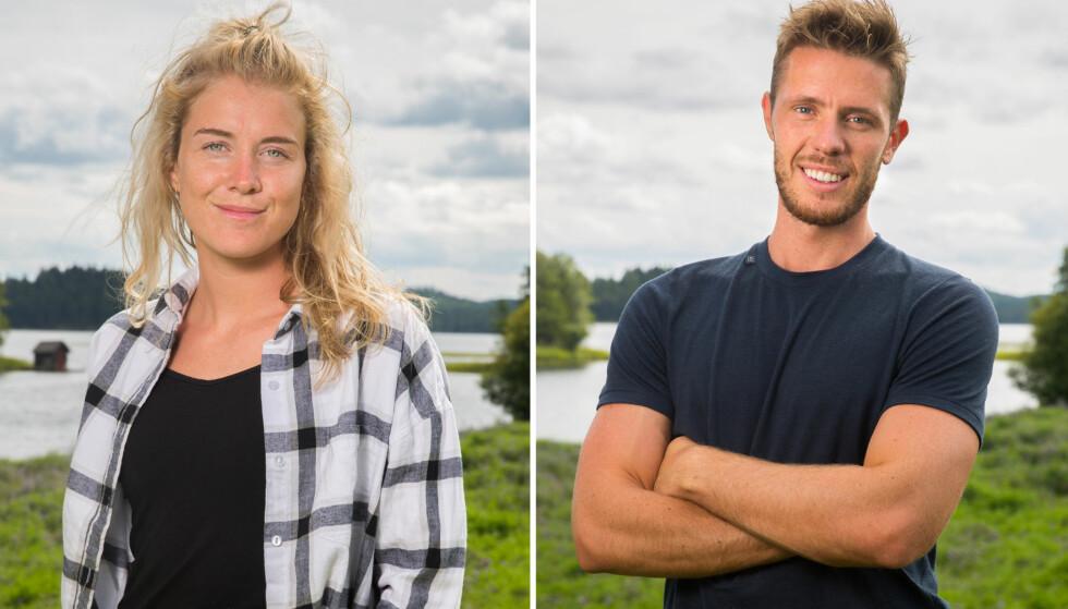 HAR FUNNET LYKKEN: Sophie Therese og Marius har blitt kjærester etter at de begge deltok på «Farmen» i 2016. Foto: TV 2