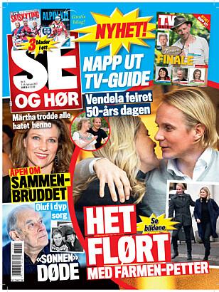 I SALG NÅ: I nyeste nummer av Se og Hør kan du lese mer om det nye «Farmen»-paret. Faksimile: Se og Hør.