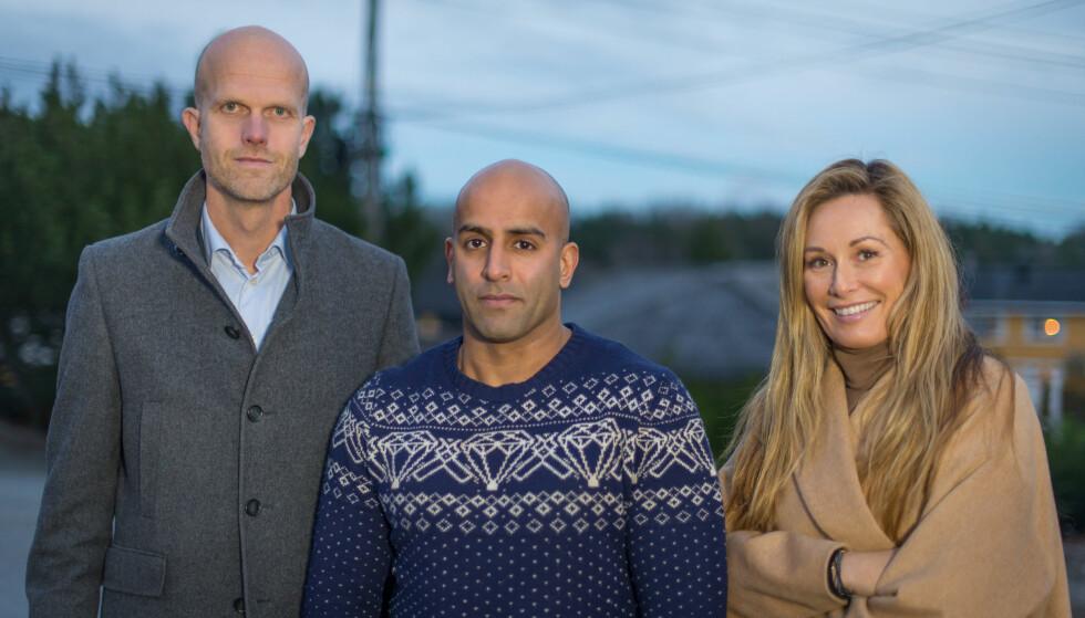 FIKK HJELP: Ekspertene Hallgeir Kvadsheim og Cecilie Lynum hjelper denne uken Azfar Majhoti i «Luksusfellen». Foto: TV 3