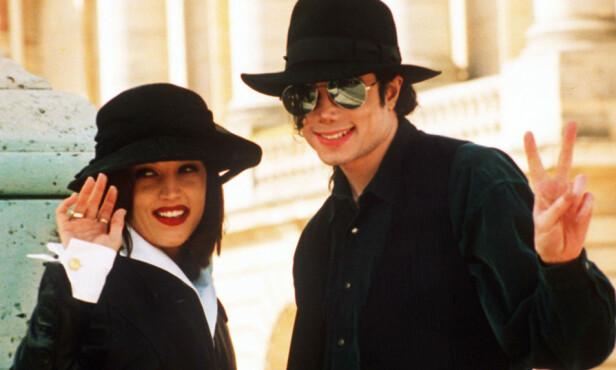 GIFTET SEG: Lisa Marie Presley og Michael Jackson var gift, men gikk hver til sitt etter bare 21 måneder. Foto: NTB Scanpix