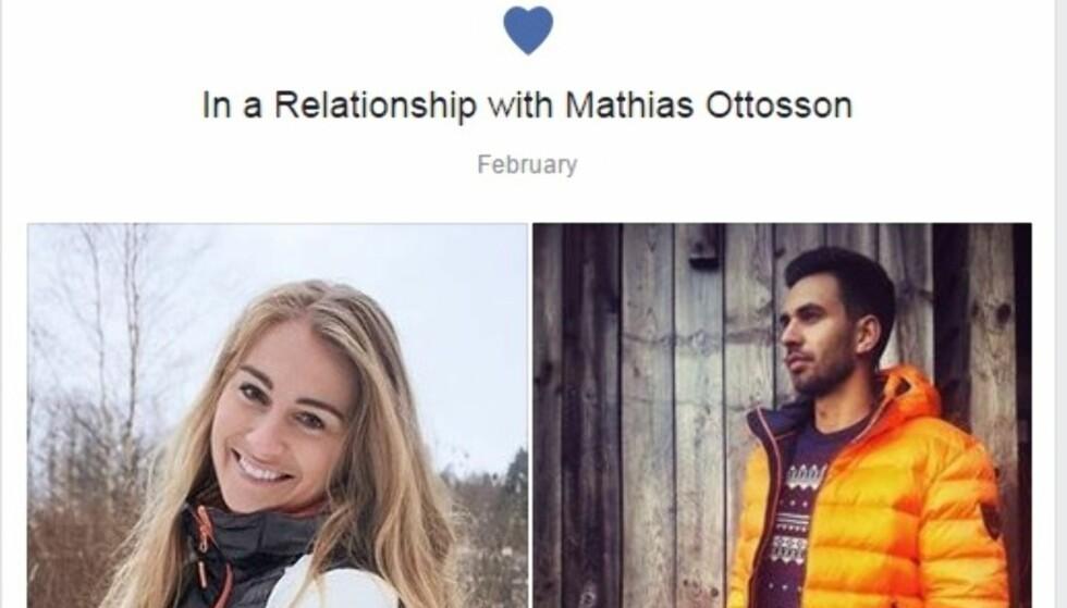 NYFORELSKET: Farmen-Charlotte har funnet lykken med Mathias Ottoson. FOTO: Privat/Facebook