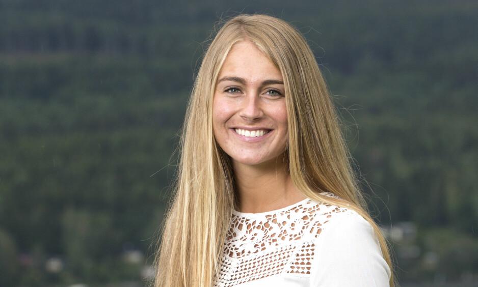 NYFORELSKET: Charlotte Jacobsen avslører at romantikken blomstrer. Foto: Andreas Fadum