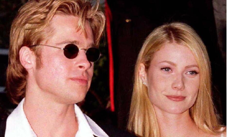GAMMEL FLAMME: Filmstjernen Brad Pitt har vært i flere profilerte forhold - mot slutten av 1990-tallet var han eksempelvis forlovet med Gwyneth Paltrow (t.h.). Men før den tid var han sammen med en annen skuespiller - som var ti år yngre enn ham. Foto: NTB scanpix