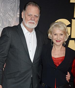 STØDIG PAR: Helen Mirren og Taylor Hackford har snart vært gift i 20 år. Foto: NTB scanpix