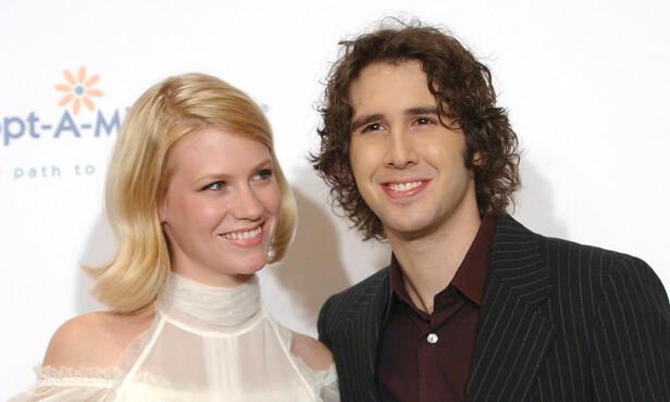 OGSÅ EKSER: Etter at January Jones datet Ashton Kutcher, var hun i et forhold med artist Josh Groban. De to var sammen fra 2003 til 2006. Foto: Rene Macura/ AP/ NTB scanpix