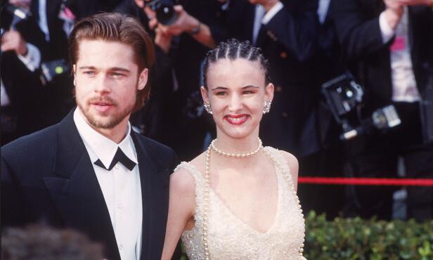 UNGT PAR: Brad Pitt og Juliette Lewis kom sammen på Oscar-utdelinga i mars 1992. Foto: Reed Saxon/ AP/ NTB scanpix