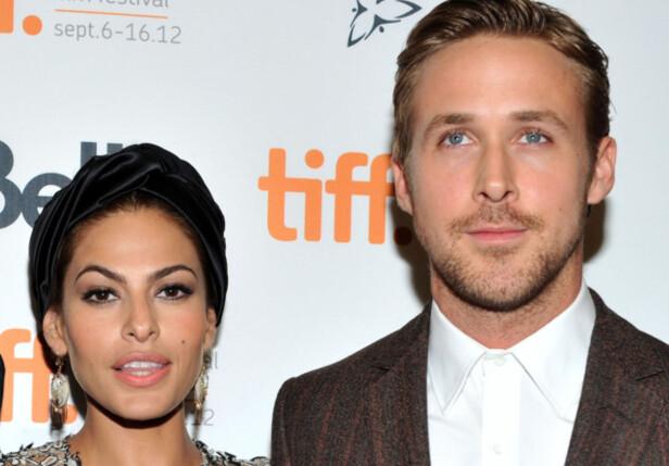 <strong>HAR TO BARN:</strong> Eva Mendes og Ryan Gosling har vært kjærester i en årrekke, og har blant annet to barn sammen. Duoen viser seg imidlertid sjeldent sammen i offentligheten. Foto: NTB Scanpix