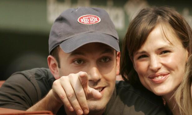 <strong>DEN GANG DA:</strong> Affleck og Garner ble sammen i 2003. Her er paret på en baseballkamp i 2007. Foto: REUTERS / Brian Snyder
