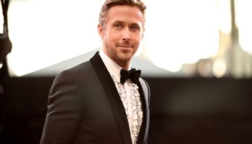 <strong>IKKE PÅ SCENEN:</strong> Ryan Gosling, som spiller en av hovedrollene i filmen «La La Land» var likevel ikke til stede på scenen under utdelingen av den tyske film og TV-prisen. Foto: AFP