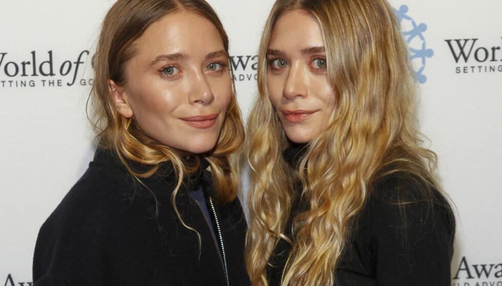 STYRTRIKE: Tvillingparet tjente godt på skuespillerkarrieren, før de gikk over til motebransjen. Foto: NTB Scanpix